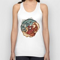 buddhism Tank Tops featuring The Tiger and the Dragon by Megan Lara