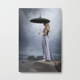 waiting in the rain Metal Print