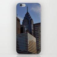 philadelphia iPhone & iPod Skins featuring Philadelphia by Jérémy Boes