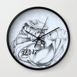 Irish Bulldog Veteran Wall Clock