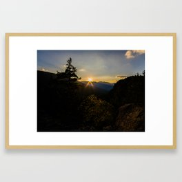 Sunset Over the Adirondacks Framed Art Print