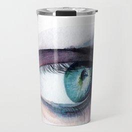 Blue Green Eye Travel Mug
