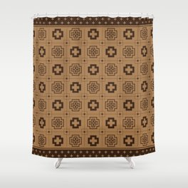 The Directions (Brown) Shower Curtain