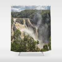 geology Shower Curtains featuring Beautiful Barron Falls by Wendy Townrow