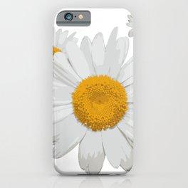 Daisy flower minimal white cute iPhone Case