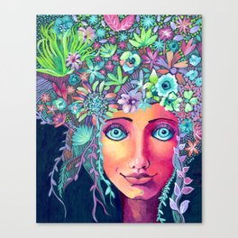 Spring Hair Canvas Print