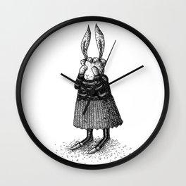 Rabbit - Girl Wall Clock