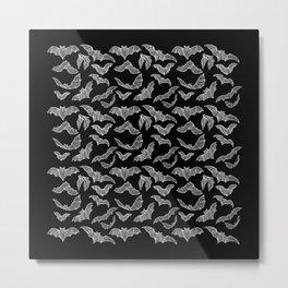 BATS (BLACK) Metal Print