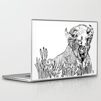 bison Laptop & iPad Skins featuring Bison  by ARI(Sunha Jung)