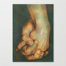 Hold my hand Canvas Print