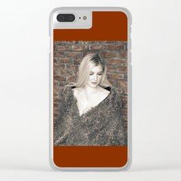 Alyssa in Wintery Faux Fur Clear iPhone Case