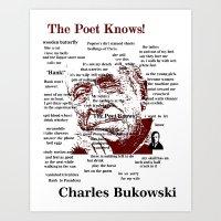 bukowski Art Prints featuring Charles Bukowski by brett66