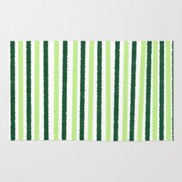 Green Color Stripes Rug