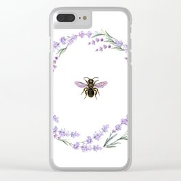 Lavender Bee Clear iPhone Case