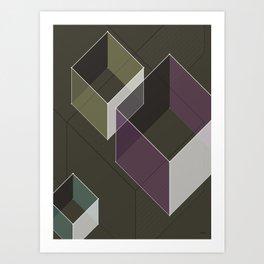 Muted RGB by Friztin Art Print