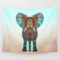clockwork orange Wall Tapestries featuring ElePHANT by Monika Strigel