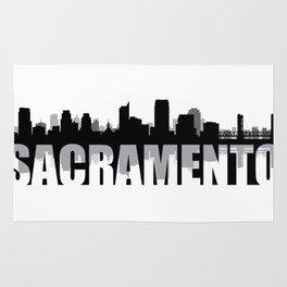 Sacramento Silhouette Skyline Rug
