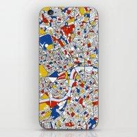 mondrian iPhone & iPod Skins featuring London Mondrian by Mondrian Maps