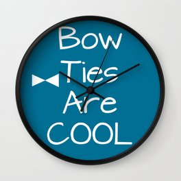 DOCTOR WHO Bow Ties Are Cool Teal Wall Clock