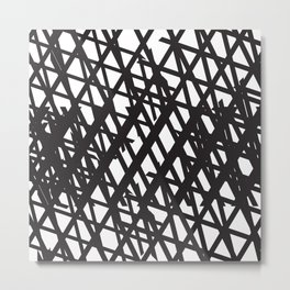 Chainlink texture Metal Print