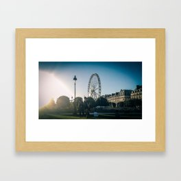 Paris, the big wheel from le jardin des Tuileries Framed Art Print