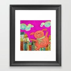 Piggy Pig - magenta Framed Art Print