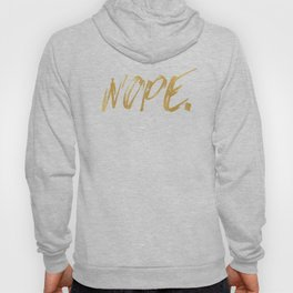 NOPE Copper Gold on Black Hoody