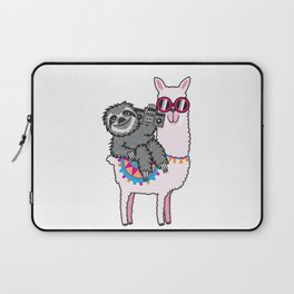 Sloth Music Llama Laptop Sleeve