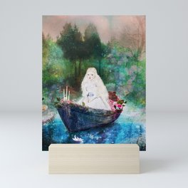 lady of shalott Mini Art Print
