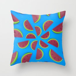 Watermelon Chew Candy Throw Pillow