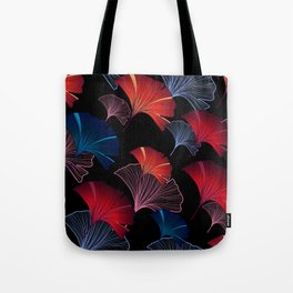 Ginkgo leaves seamless pattern with colorful hand-drawn elements Tote Bag
