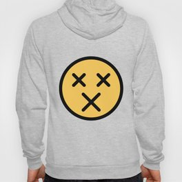 Smiley Face   X Crossed Out Mouth And Eyes Hoody