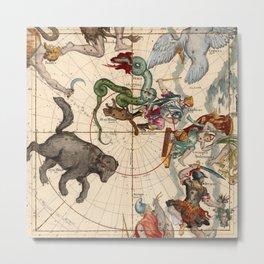 Constellation Chart 1693f Metal Print