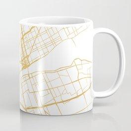 DETROIT MICHIGAN CITY STREET MAP ART Coffee Mug