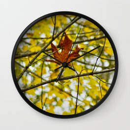 Lonely Leaf Wall Clock