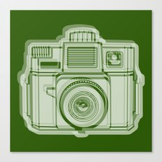 I Still Shoot Film Holga Logo - Reversed Green Canvas Print