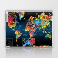 World Map Black - 2 Laptop & iPad Skin