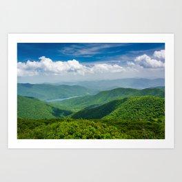 A Splendid View of the Blue Ridge Mountains Art Print