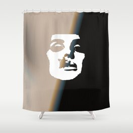 """Rock and Roll Me LDR"" Shower Curtain"