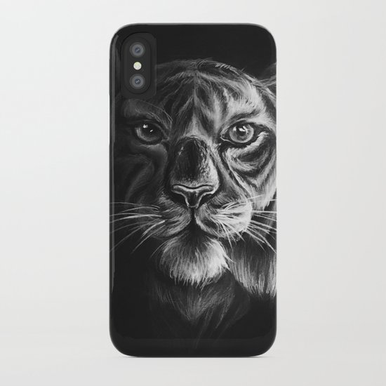 """""""White Tiger"""" Drawing iPhone Case"""