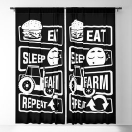 Eat Sleep Farm Repeat - Farmer Farmyard Farm Blackout Curtain