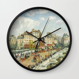 Camille Pissarro - The Pont-Neuf, 1902 Wall Clock