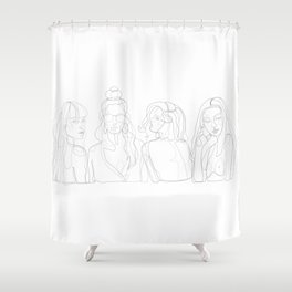 Girl Squad Shower Curtain