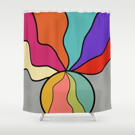 Abstract Ball With Waves Inside and Out Shower Curtain