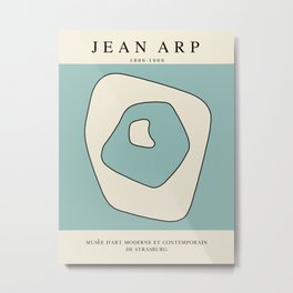Modern poster - Jean Hans Arp - Exposition 6. Metal Print