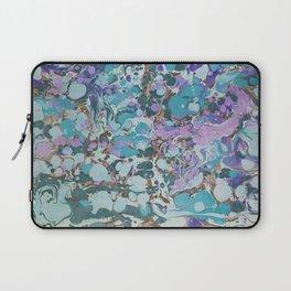 Aquabubble marbleized print Laptop Sleeve