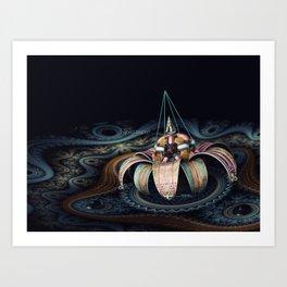 World Trance Flower Art Print