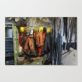 Working clothes, steam locomotives Canvas Print