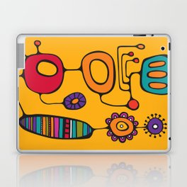Feather Flower Chime in Color Laptop & iPad Skin
