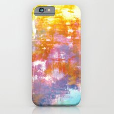 OFF THE GRID 3 Colorful Pastel Neon Purple Rust Yellow Abstract Watercolor Acrylic Textural Painting iPhone 6s Slim Case